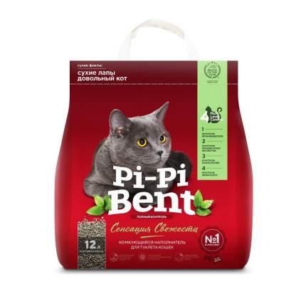 Комкующийся наполнитель для кошек Pi-Pi Bent Сенсация свежести, бентонитовый, 5 кг, 12 л