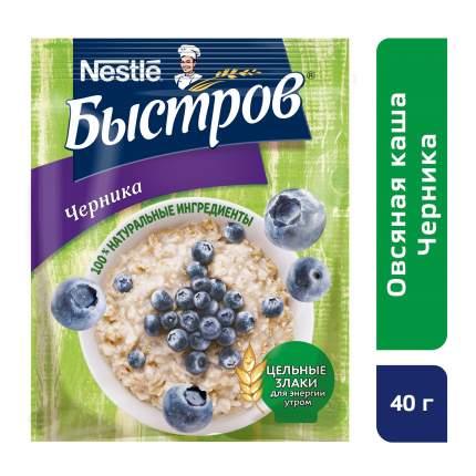 Каша овсяная Быстров черника с витаминами 40 г 17 штук