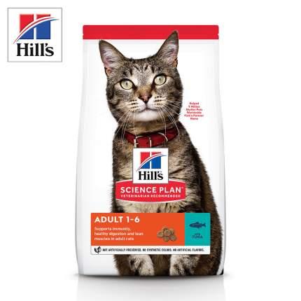 Сухой корм для кошек Hill's Science Plan Adult, с тунцом, 1,5кг