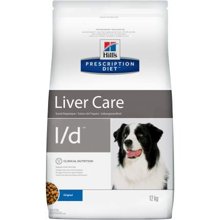 Сухой корм для собак Hill's Prescription Diet l/d Liver Care, мясо, 12кг