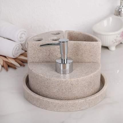 Набор аксессуаров для ванной комнаты, 4 предмета бежевый