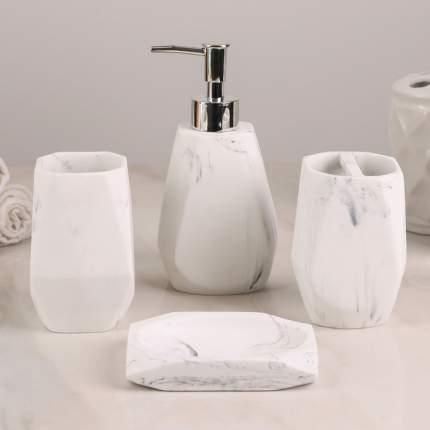 Набор аксессуаров для ванной комнаты, 4 предмета Мрамор