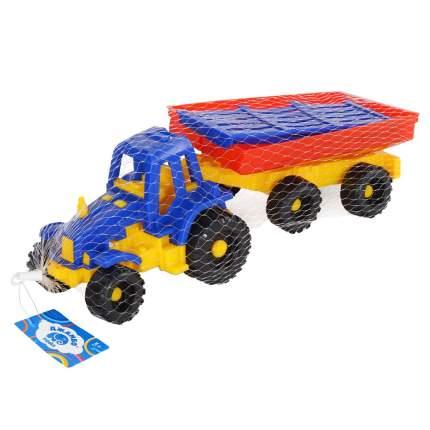 """Трактор малый с прицепом синий ТМ """"Джамбо Тойз"""", в сетке  JB5300042"""