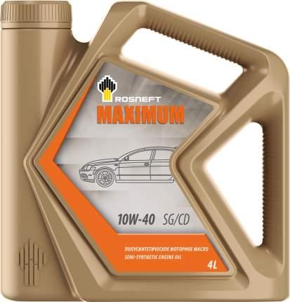 Rosneft Масло Моторное Rosneft Maximum 10w40 Полусинтетическое 4 Л 40814342