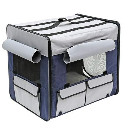 Домик для собак Triol Дом-тент S, синий, серый, 54x38x46см