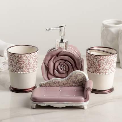 Набор аксессуаров для ванной комнаты «Бонжур», 4 предмета