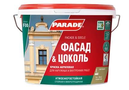 Краска латексная Parade Pro'latex Е2 база А глубокоматовая 0,9л