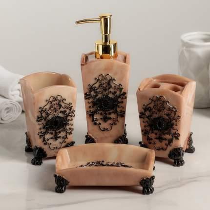 Набор аксессуаров для ванной комнаты, 4 предмета Узоры