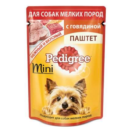 Влажный корм для собак Pedigree mini, паштет говядина, 24шт, 80г