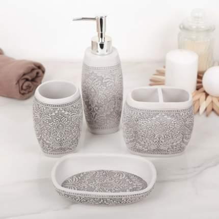 Набор аксессуаров для ванной комнаты «Роспись», 4 предмета