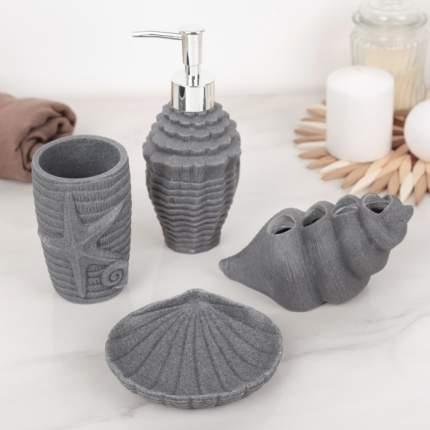 Набор аксессуаров для ванной комнаты «Морской», 4 предмета
