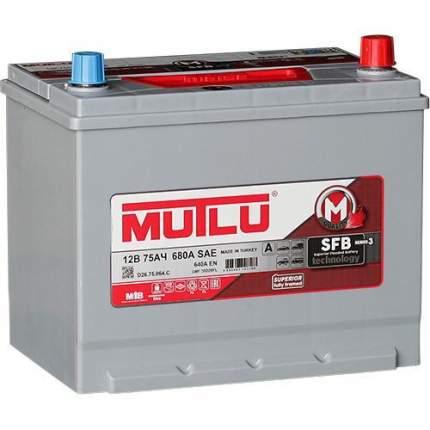 """Аккумулятор легковой """"Mutlu"""" 75Ач о.п. 90D26FL D26.75.064.C нижнее крепление"""