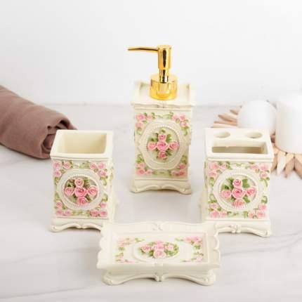 Набор аксессуаров для ванной комнаты, 4 предмета Букет роз