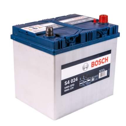 Аккумулятор легковой BOSCH S40 240 S4 Азия (60Ач о/п) D23L 0560 410 054