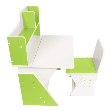 Детская растущая парта и стул Я САМ Классик Бело-Зеленый