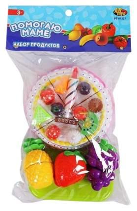 Игровой набор Junfa Toys Помогаю Маме Торт и фрукты для резки 26 предметов