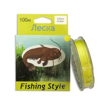 Леска плетеная Fishing Style RL2902 0,25 мм, 100 м, 21 кг желтая