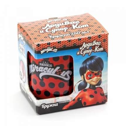 Кружка стеклянная ND Play Леди Баг и Супер Кот Дизайн 1, в подарочной упаковке, 250 мл