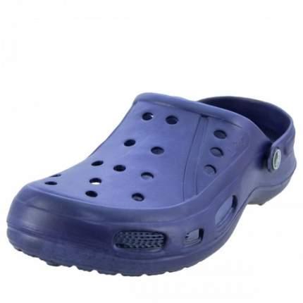 Тапочки кроксы резиновые мужские темно-синие LIGHT Лайт