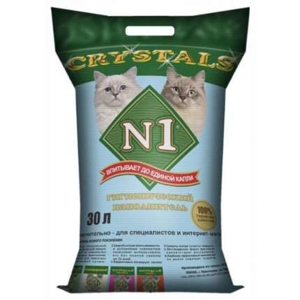 Впитывающий наполнитель для кошек №1 Crystals силикагелевый, 12.2 кг, 30 л