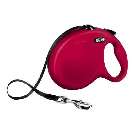 Поводок-рулетка FLEXI New Classic L, до 50 кг, лента, 8 м, красная