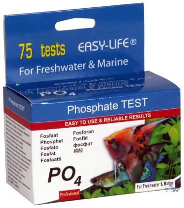 Тест на уровень фосфата в воде EASY LIFE Phosphate TEST PO4, 75 тестов