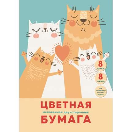 "Цветная бумага Unnika land ""Счастливая семья""  А4  двухсторонняя"