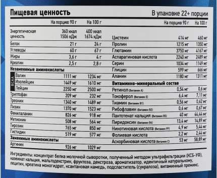 Гейнер TITAN CREATINE, вкус «Банан», 2 кг, RLine