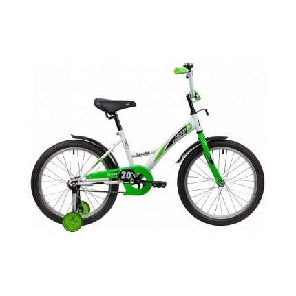 "Велосипед Novatrack Strike белый-зеленый 20"""