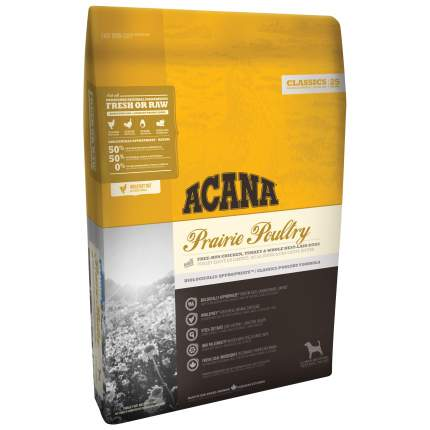 Сухой корм для собак ACANA Classics Prairie Poultry, индейка, курица, овес, 17кг