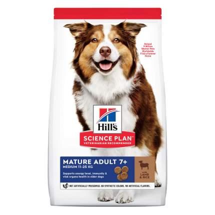 Сухой корм для собак Hill's Science Plan Mature 7+ Active Longevity Medium, ягненок, 12кг