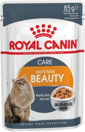 Влажный корм для кошек ROYAL CANIN Intense Beauty, при аллергии, рыба, 12шт по 85г