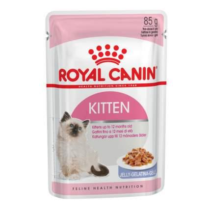 Влажный корм для котят ROYAL CANIN Kitten Instinctive, мясо, 12шт по 85г