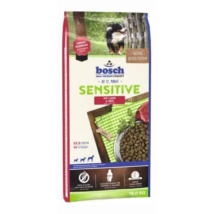 Сухой корм для собак Bosch Sensitive, для чувствительного пищеварения, ягненок, рис, 15кг