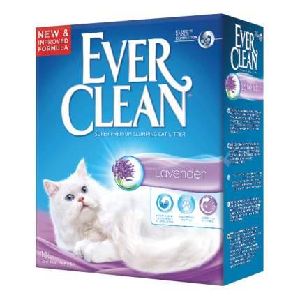 Комкующийся наполнитель для кошек Ever Clean Lavender бентонитовый, лаванда, 10 л