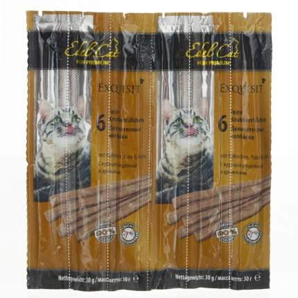Лакомство для кошек Edel Cat колбаски, индейка, курица, дрожжи, 6 шт, 30 г