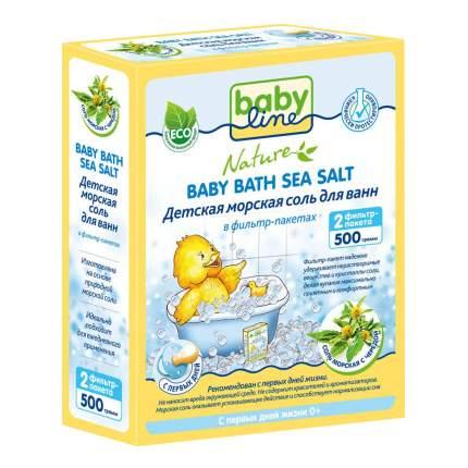 Детская морская соль для ванн babyline с чередой 500 г