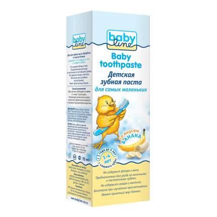 Детская зубная babyline паста со вкусом банана, 75 мл