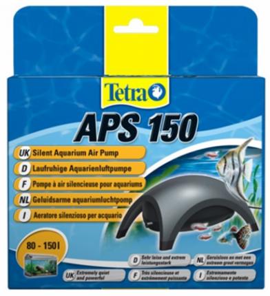 Компрессор для аквариума Tetra АРS 150 одноканальный, черный, 150 л/час