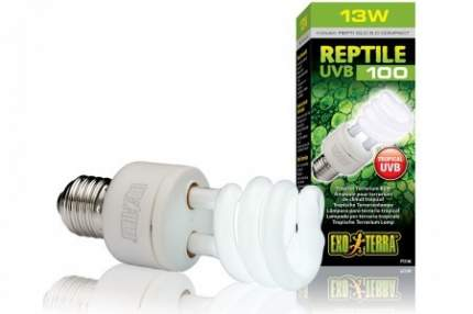 Ультрафиолетовая лампа для террариума Exo Terra Repti Glo 5.0 Compact, 13 Вт