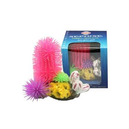Искусственные кораллы для аквариума Fauna International фиолетовый-синий-розовый, 16х10х15