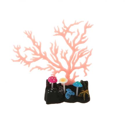 Искусственный коралл JELLY-FISH светящийся, силикон, зеленый, 16.5х7х9 см