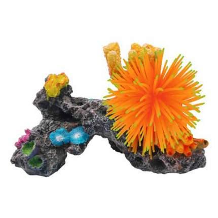 Искусственный коралл для аквариума Fauna International, разноцветный, 21х11х13 см