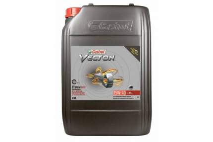CASTROL 15B9C6 Моторное масло Vecton 15W-40 CI-4/E7 20 л. гр.упак. 1 шт.