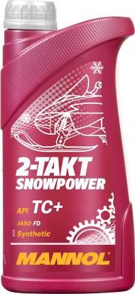 7201 MANNOL 2-TAKT SNOWPOWER 1 л. Синтетическое моторное масло для снегоходов (2T)