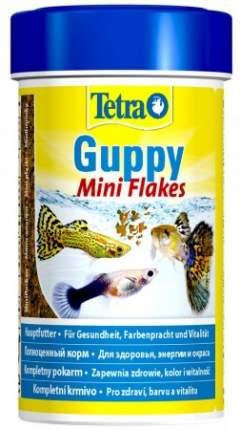 Корм для гуппи Tetra Guppy Mini Flakes, хлопья-мини, 100 мл