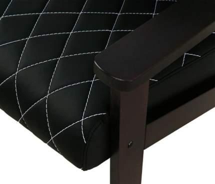 Кресло для отдыха Вилора c прострочкой, Luxa black, Венге