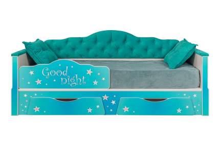 Кровать Mobi Ноктюрн 180 01.34 белый/берген азуре 180x80 см