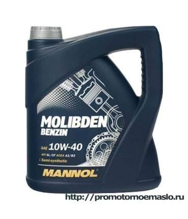 7505 MANNOL MOLIBDEN 10W40 4 л. (metal) Полусинтетическое моторное масло 10W-40
