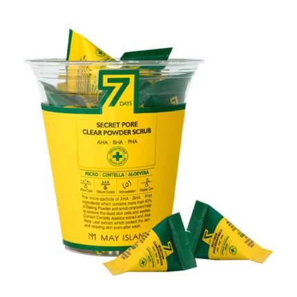 Скраб для глубокого очищения пор 7 Days Secret Pore Clear Powder Scrub, 3 шт по 5 гр